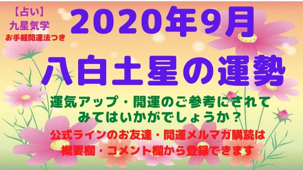 土星 2020 八白